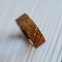Tungsten Carbide Wedding Ring Wood Inlay
