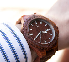 A high-quality wood watch with Japanese Movement from Urban Designer.