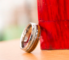 Beautiful deer antler, wood, and metal ring from Urban Designer.