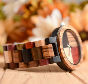 UD Colorful Angel Matching His And Hers Wood Watches For Couples