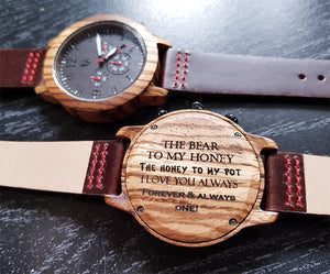 An example of what to engrave on a watch for a loved one from Urban Designer.