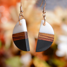 UD Women's Color-block Unique Wooden Earrings