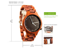 UD Unisex Personalized/Engraved Watch/Natural Red Sandal Round Wood Watch