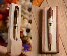 Wooden Ballpoint Pen With Pen Case Display