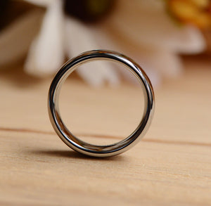 8mm Tungsten Wood Band with Purpleheart Inlay