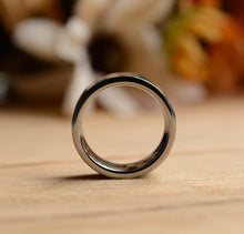 8mm Two Koa Wood Inlay Tungsten Wood Ring