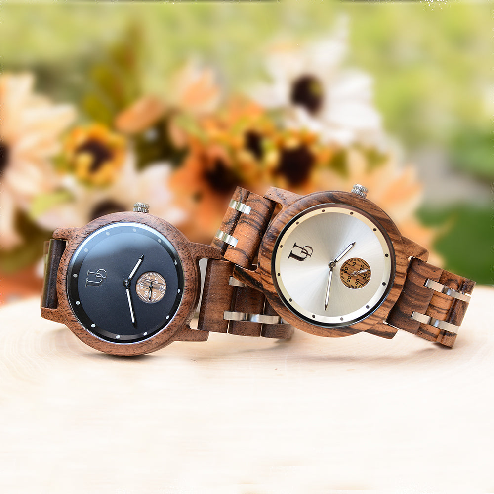 couples wood watches-gifts for couples-minimalist wood watches