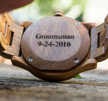 UD Personalized/Engraved Vera Wood Watch for Men and Women