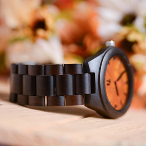 enrgaved wooden watch-anniversary gift for him-personalized gift-enrgaved watch-ud watch