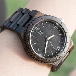 Reclaimed wood grain watch with black face from Urban Designer.