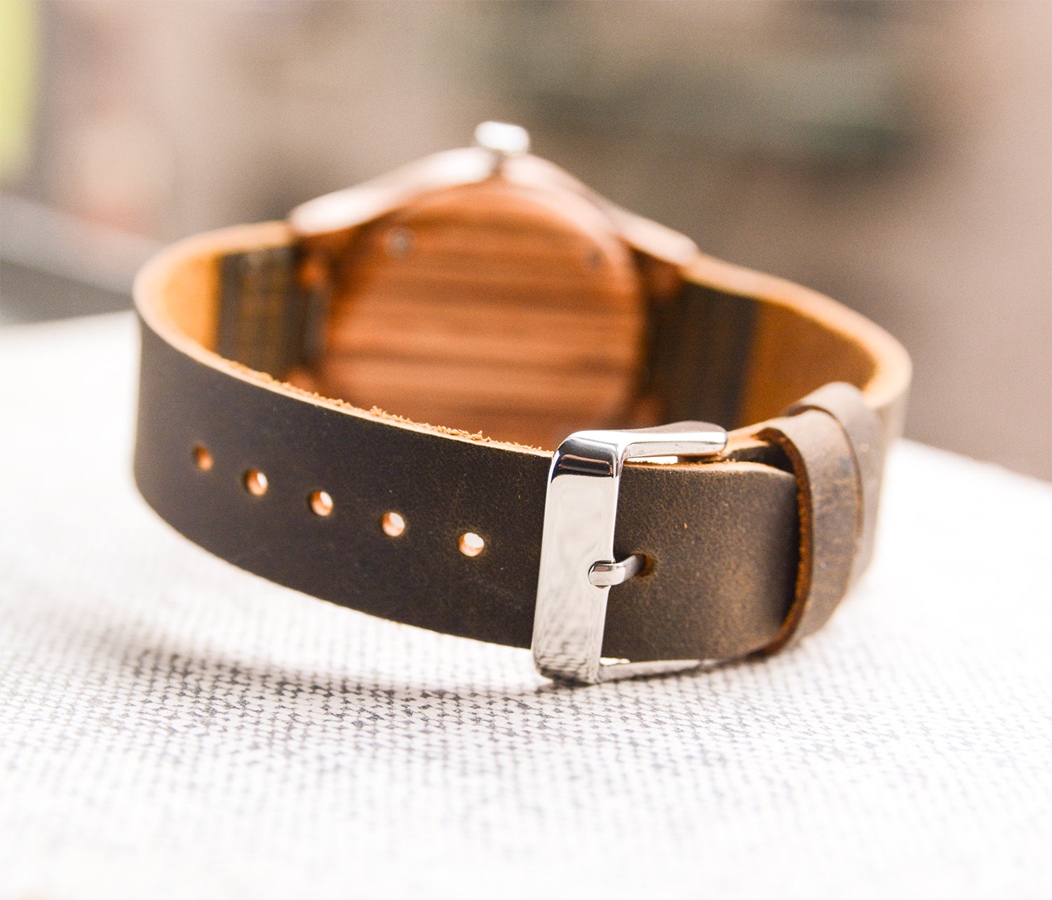 Leather strap brown with personal engraving