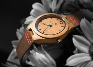 Groomsmen Gift Ideas - Engraved Groomsmen Wooden Watches Leather Band