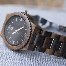 An Urban Designer personalized wooden watch, perfect as a personalized gift for him.