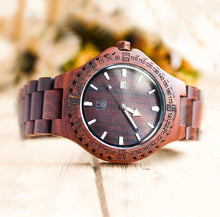 A unique wood watch for sale made from natural red sandalwood by Urban Designer.