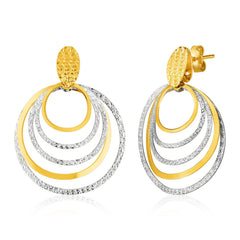 two-tone gold earrings