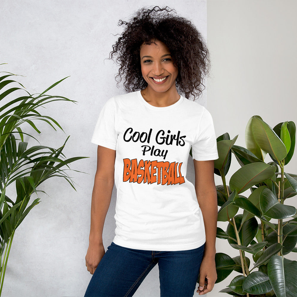 Cool Girls Play Basketball Short-Sleeve Unisex T-Shirt