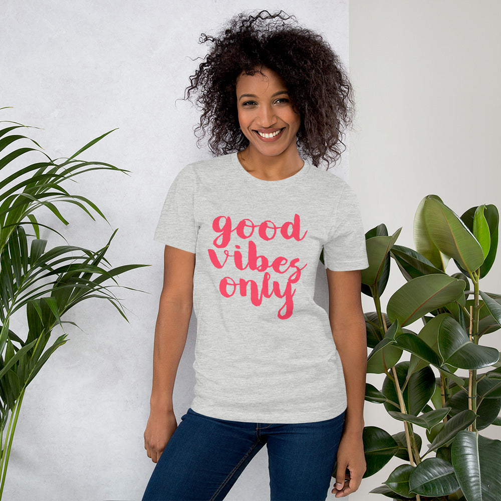 good vibes only Short-Sleeve Unisex T-Shirt