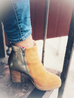 Nolita Leather Boots Sand Gold