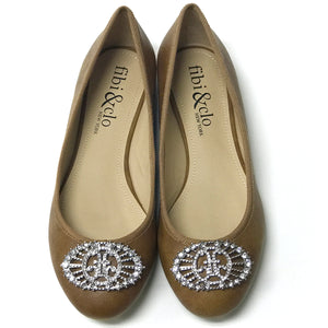 Audrey Brown Ballet Flat