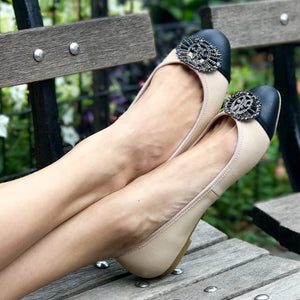 Cordoba Blush/Black Flats