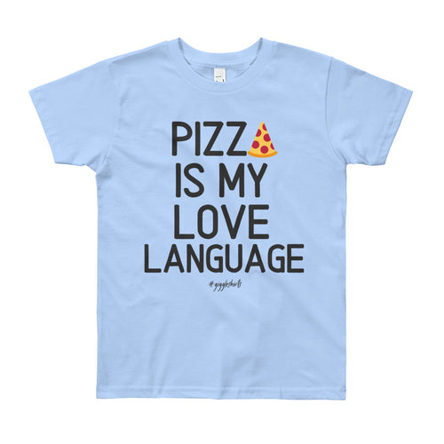 Pizza Love Youth Short Sleeve T-Shirt