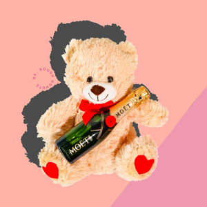 Mothers Day Teddy Bear And Moet Mini