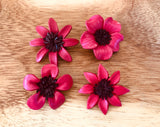 Broches rojos