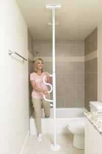 Stander Security Pole & Curve Grab Bar