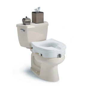 Invacare® Clamp-On Raised Toilet Seat