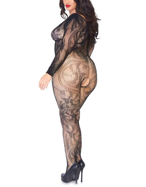 Jana Spiral Lace Bodystocking - Made For Curves