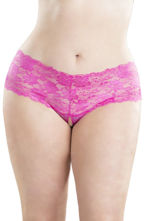 GOODNIGHT KISS CROTCHLESS BOYSHORT - Made For Curves
