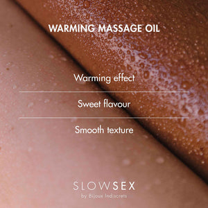 Bijoux Indiscrets Slow Sex Warming Massage Oil 1.69oz