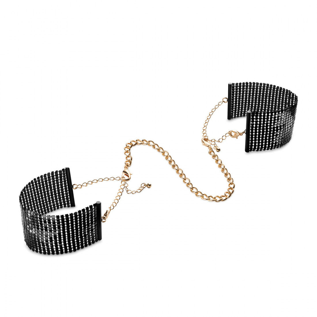 Bijoux Indiscrets Desir Metallique Mesh Handcuffs - Made For Curves