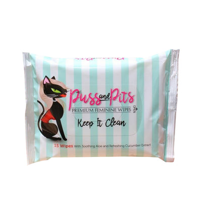 Puss and Pits Premium Feminine Wipes - Made For Curves