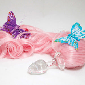 Crystal Delights My Lil Pony Tail - Solid - Pink