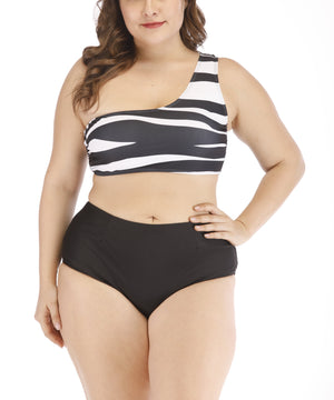 EMMA HIGH WAIST 2 PIECE BATHING SUIT - Made For Curves