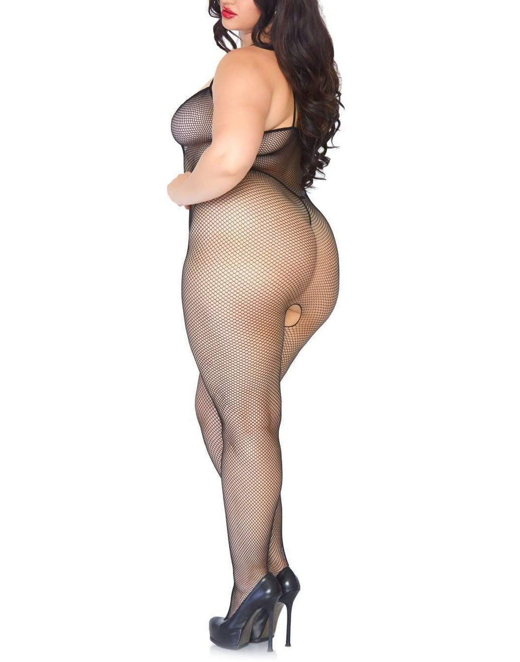 Cora Fishnet Bodystocking - Made For Curves