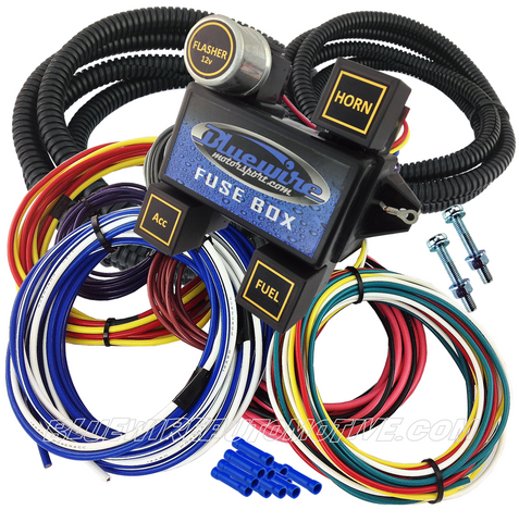 Tremendous Bluewire Automotive Universal 12 Circuit Fuse Block Short Harness Wiring 101 Tzicihahutechinfo