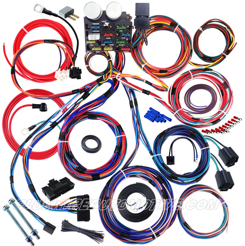 UNIVERSAL 12-CIRCUIT FULL BASIC WIRE HARNESS