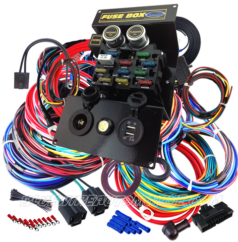 Best Hot Rod Wiring Harness | Wiring Diagram Aftermarket Hot Rod Wiring Harness on