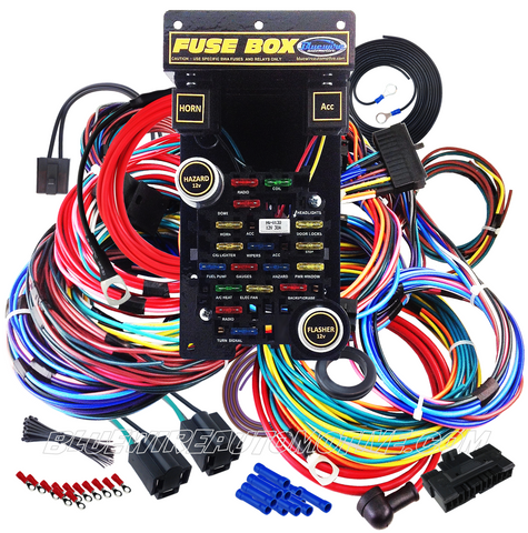 bluewire automotive universal 21 circuit plus automotive wiring rh bluewireautomotive com automotive wiring terminal kits automotive wiring harness kits