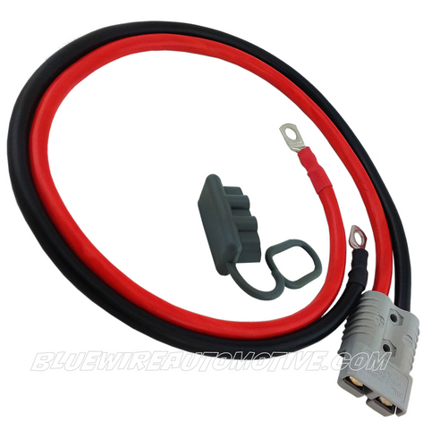 BATTERY JUMP START PLUG CONNECTOR LEADS - 200amps