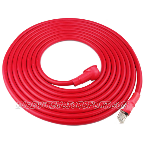 BATTERY CABLE-RED-5m-3B&S-6v~12v