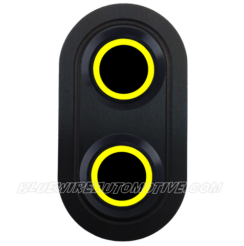 DELUXE BLACK SERISE BILLET POWER WINDOW SWITCH-YELLOW