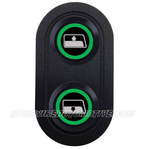DELUXE BLACK SERISE BILLET POWER WINDOW SWITCH-WINDOW-GREEN