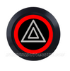 BLACK SERIES DUAL COLOUR BILLET BUTTON-22mm-HAZARD