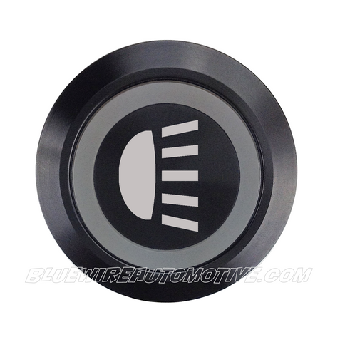 BLACK SERIES DUAL COLOUR BILLET BUTTON-22mm-HEADLIGHT