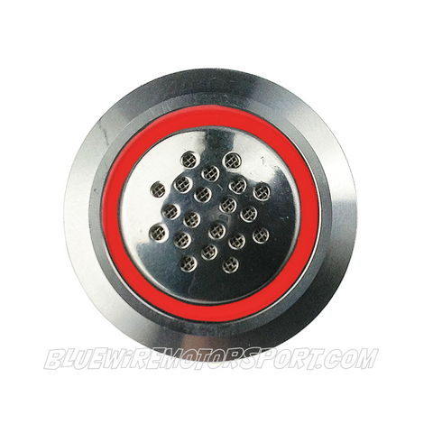 SILVER SERIES BILLET-19mm-WARNING BUZZER-RED