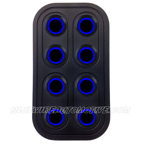 DELUXE BLACK SERIES BILLET POWER WINDOW SWITCH-4D-BLUE