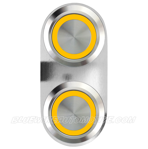 SILVER SERIES BILLET POWER WINDOW SWITCH-SINGLE-YELLOW